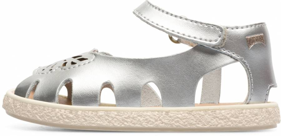 CAMPER TWINS KIDS FW SANDALS SILVER