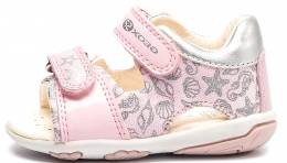 GEOX SANDAL NICELY BABY FIRS STEPS PINK/SILVER CASUAL SPORT