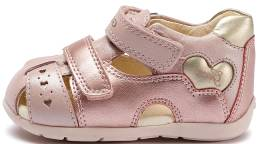 GEOX BABY KAYTAN FIRST STEPS SANDALS PINK/GOLD