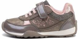 GEOX J NEW JOCKER GIRL SNEAKERS SMOKE/GREY/SKIN