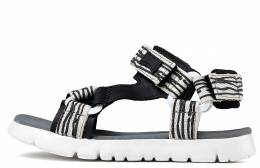 CAMPER ORUGA SANDAL KIDS NATURAL-NEGRO/MIR MULTICOLOR