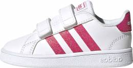 ADIDAS GRAND COURT INF FTWWHT/REAPNK/FTWWHT