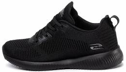 SKECHERS BOBS SPORT SQUAD -TOUGH TALK BLACK
