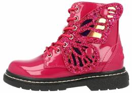 LELLI KELLY Fairy Wings Fuxia Patent Ankle Boot Limited Edition