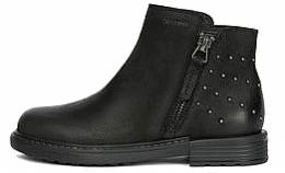 GEOX J ECLAIR GIRL ANKLE BOOTS FASHION GLAM BLACK 2