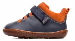 CAMPER PEU BOYS NAVY/ORANGE