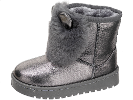 BARBIE BOOTS GLITTER SILVER