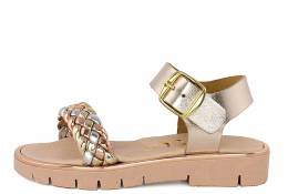 RICCO MONDO LEATHER SANDALS GIRLS GOLD