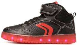 500ee5a5d5e GEOX JUNIOR SNEAKERS CASUAL ACTIVE KOMMODOR BOY BLACK/RED