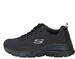 SKECHERS  KNIT LACE-UP WEDGE AIR COOLED MEMORY FOAM