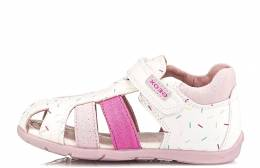 GEOX BABY  GIRL FIRST STEPS B.ELTHAN WHITE/PINK